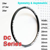 Symmetric & Asymmetric Carbon Mountain Bike Rim DC series ( Width: 24mm, 27mm, 28mm, 30mm, 33mm, 35mm, 36mm, 40mm )
