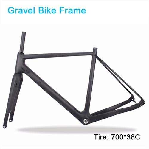 Carbon Bike Frame Thru Axle 142mm Available 700*38C bicicleta Carbon Bike Frame,Gravel Di2 Carbon Cyclocross Frame Disc