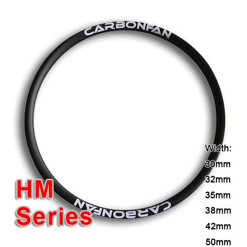 Carbon hookless rim HM mountain bike classic Series (width: 30mm, 32mm, 35mm, 38mm, 42mm, 50mm)