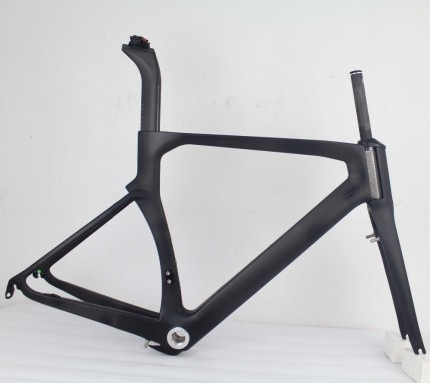 2021 Carbon Road Frame 52cm BSA Carbon bike frame with Brake TRP Chinese Carbon Bicycle Frameset