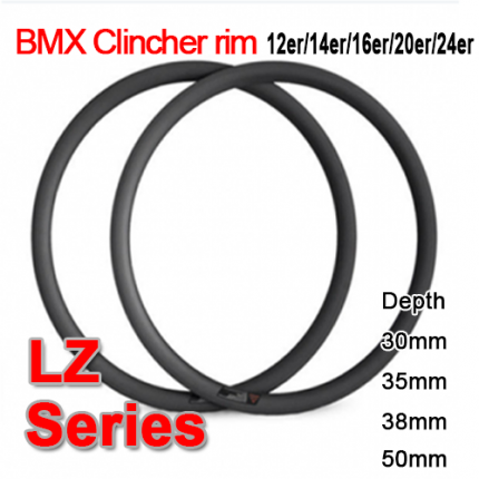Carbonfan BMX 12er / 14er / 16er / 20er / 24er Carbon Bike Rim LZ Series