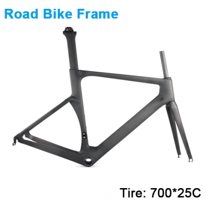Carbonfan HM-Feng Aero Road Bike Carbon Frame 700*25C T700