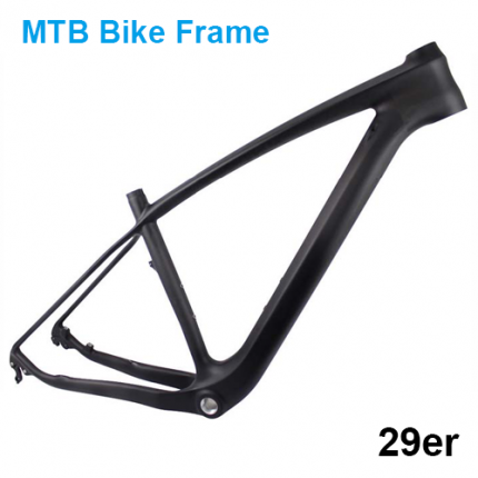 T700 Full Carbon mountain Bike frame 29er, rear thru axle 142*12mm carbon MTB Bicycle Frame 29er
