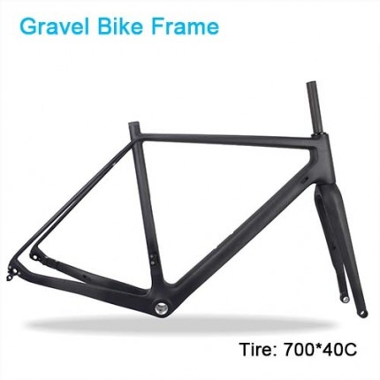 Carbon Bike Frame Thru Axle 142mm Available 700*40C ATEL Carbon Bike Frame, Gravel Di2 Carbon Cyclocross Frame Disc