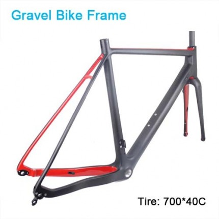 Carbon Bike Frame Gravel bikes 700*40C Carbon CycloCross Bike Frame Cadre carbone Disc brake di2 Carbon bike frame Matte