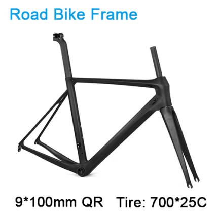 Carbonfan 700*25C ATUM 9*100mm QR  Road Bike Carbon Frameset