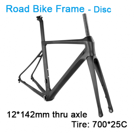 Carbonfan ATUM 12*142mm Disc Road Bike Carbon Frameset