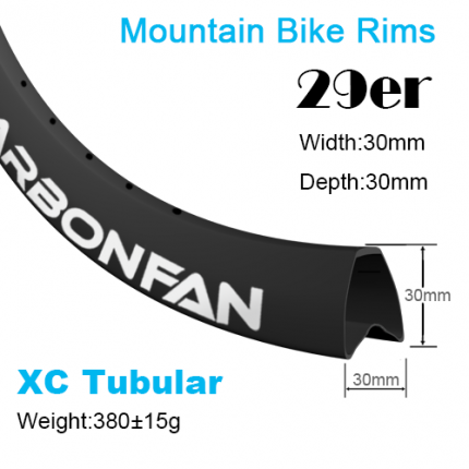 Width:30mm Depth:30mm 29er tubular carbon mountain bike rims Cross country