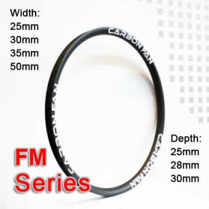 carbonfan carbon rim mountain bike FM series (width:25mm, 30mm, 35mm, 50mm)