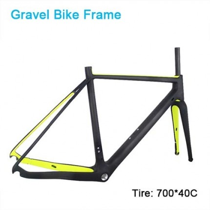 Carbon Bike Frame Gravel bikes 700*40C Carbon CycloCross Bike Frame Cadre carbone Disc brake di2 Carbon bike frame Matte/Glossy